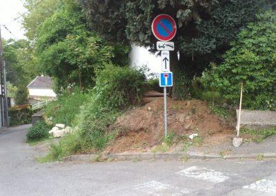 Eboulement d'un talus sur la commune d'Orvault