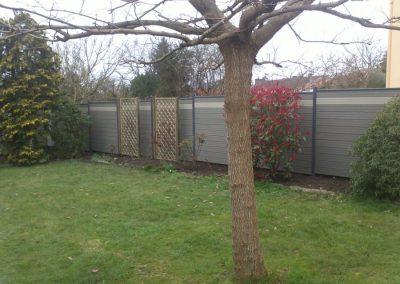 Installation d'une clôture en bois composite à Vertou